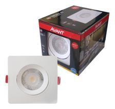 Spot Embutir Led 5w Direcionavel Quadrado Luz Fria 6500K Avant Pack 5