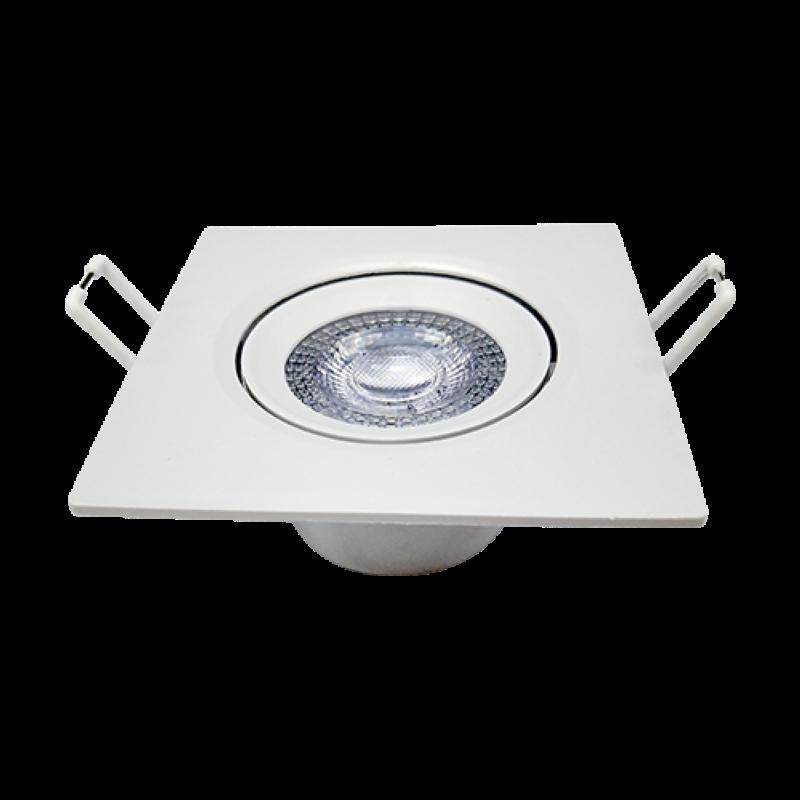Spot Embutir Led 7w Direcionavel Quadrado Luz Neutra Garantia