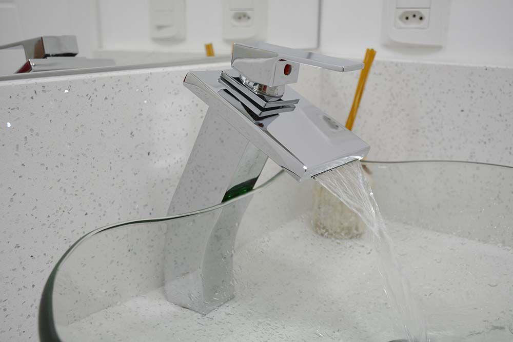 Torneira Monocomando Misturador Para Banheiro Metal Alta