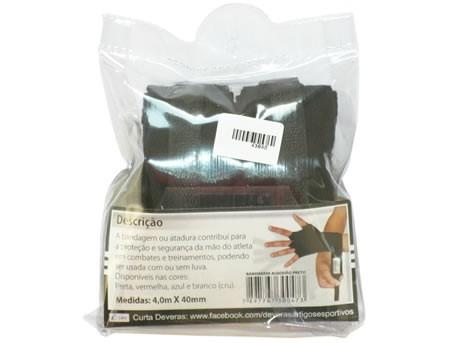 Bandagem algodão preta 4M X 40mm Deveras PAR