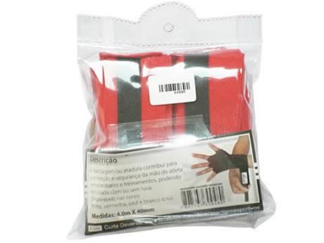 Bandagem algodão vermelha 4M X 40mm Deveras PAR