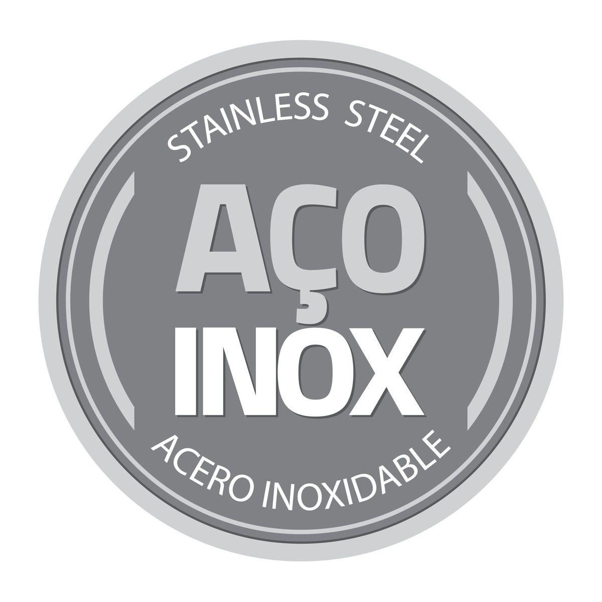 Bandeja Tramontina Cosmos Retangular em Aço Inox 39 cm 61316/390   Lojas Estrela