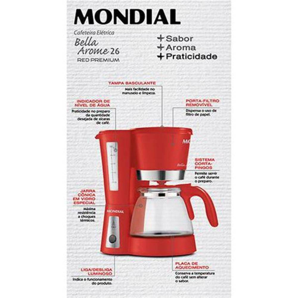 Cafeteira Mondial Bella Arome | Lojas Estrela