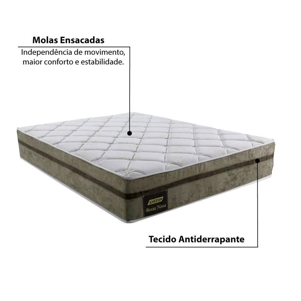 Colchão Casal Gazin Molas ensacadas Bossa Nova Molejo 1,38X1,88X30