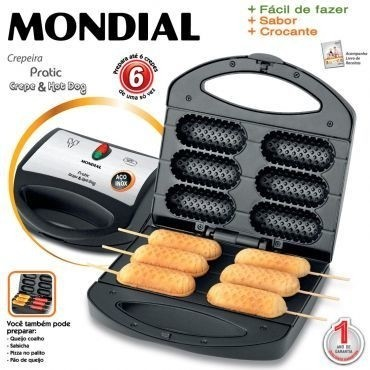 Crepeira Mondial e Hot Dog 110V Pratic Crepe CP-01
