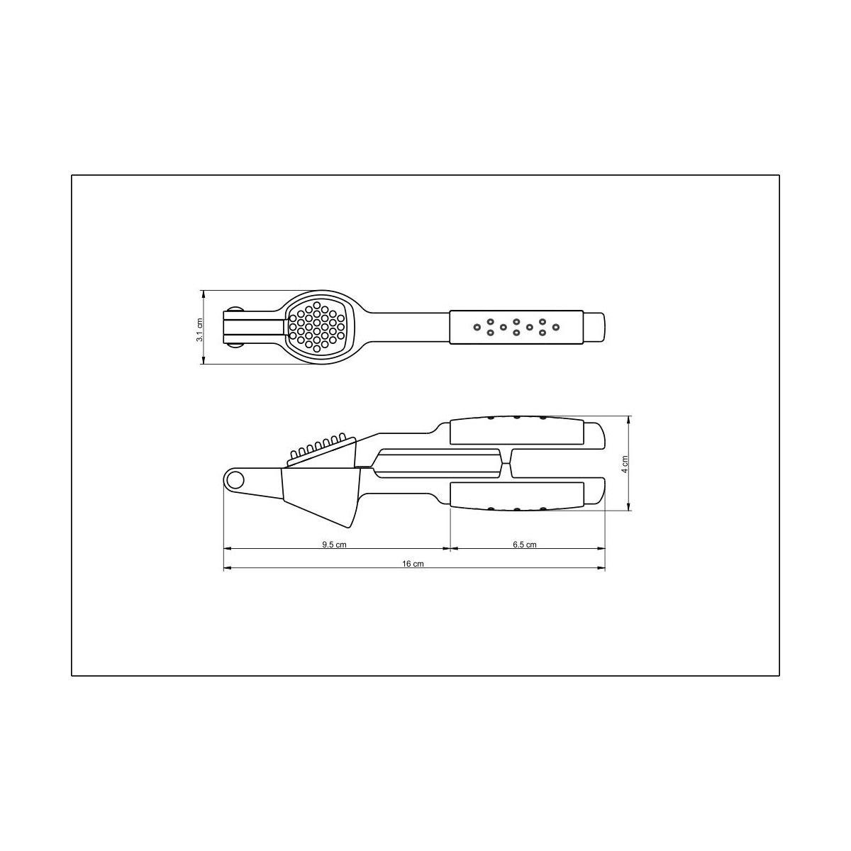 Espremedor de Alho Tramontina em Zamak Cromado com Cabo Vermelho ABS 25601/170 | Lojas Estrela