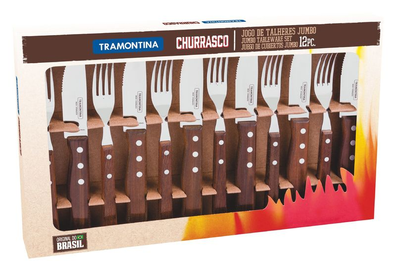 Jogo Churrasco Tramontina Inox 12Pç TRAD 22299/059