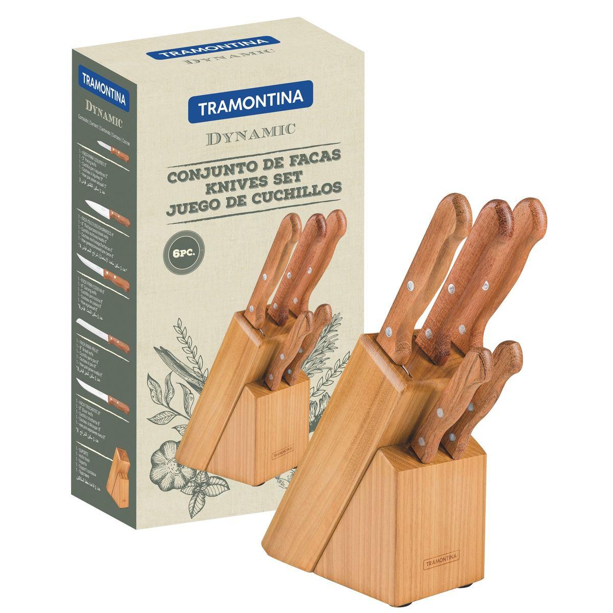 Jogo de facas 6 peças 22399/020 | Lojas Estrela