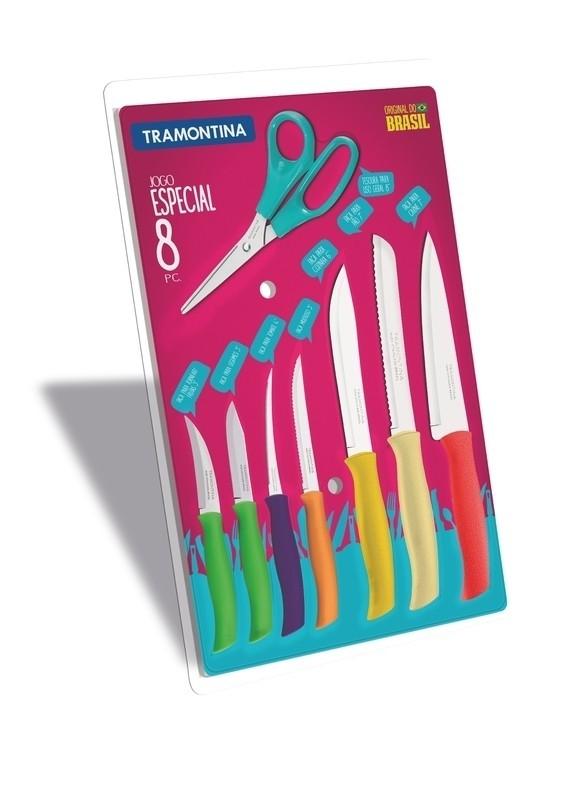 Jogo de Facas Tramontina Inox Athus 08 peças 23098/991