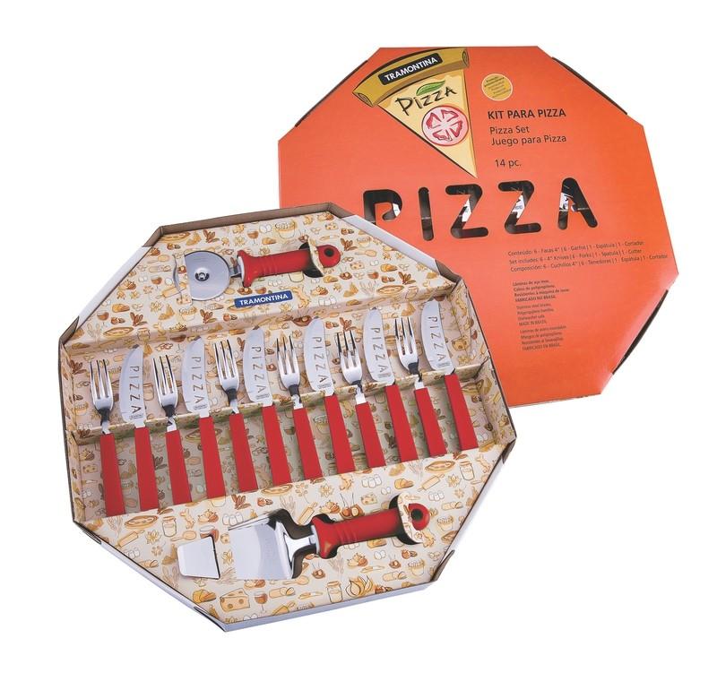 Kit para Pizza Tramontina 25099/722 Vermelho
