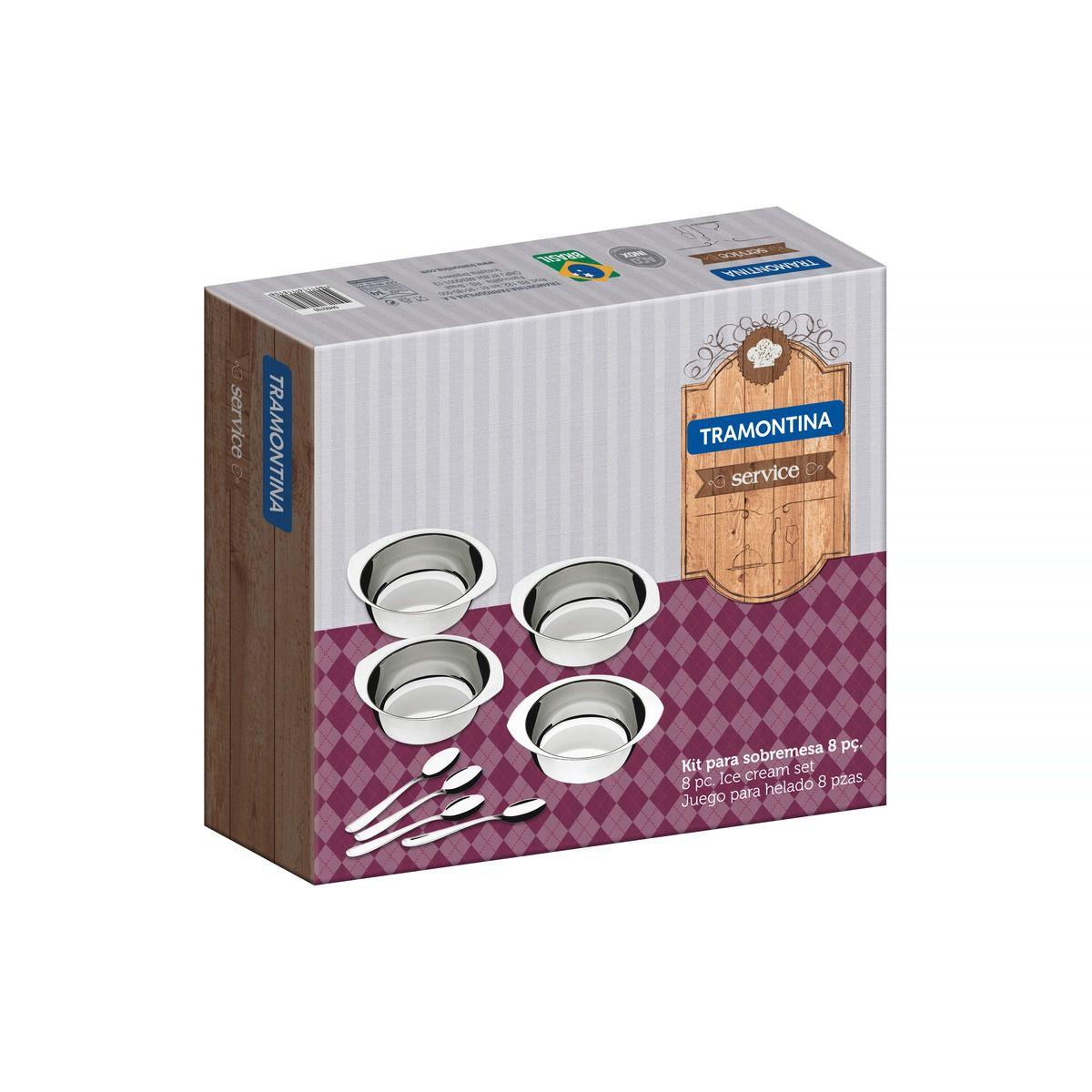 Kit para Sobremesa Tramontina Service em Aço Inox 8 Peças 64400/780 | Lojas Estrela
