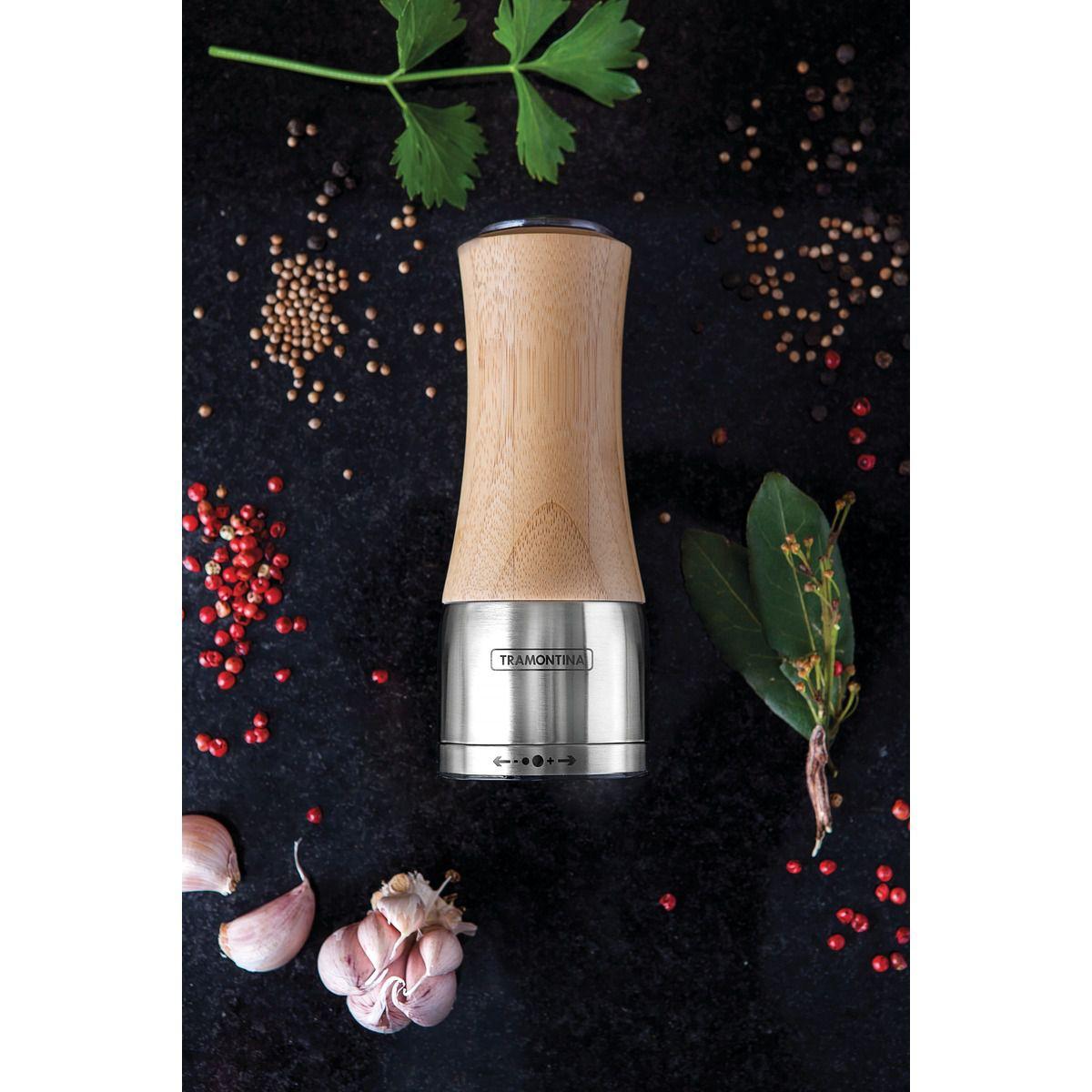 Moedor Tramontina Sal ou Pimenta em Bambú e Aço Inox com Moinho em Cerâmica 61652/000 | Lojas Estrela