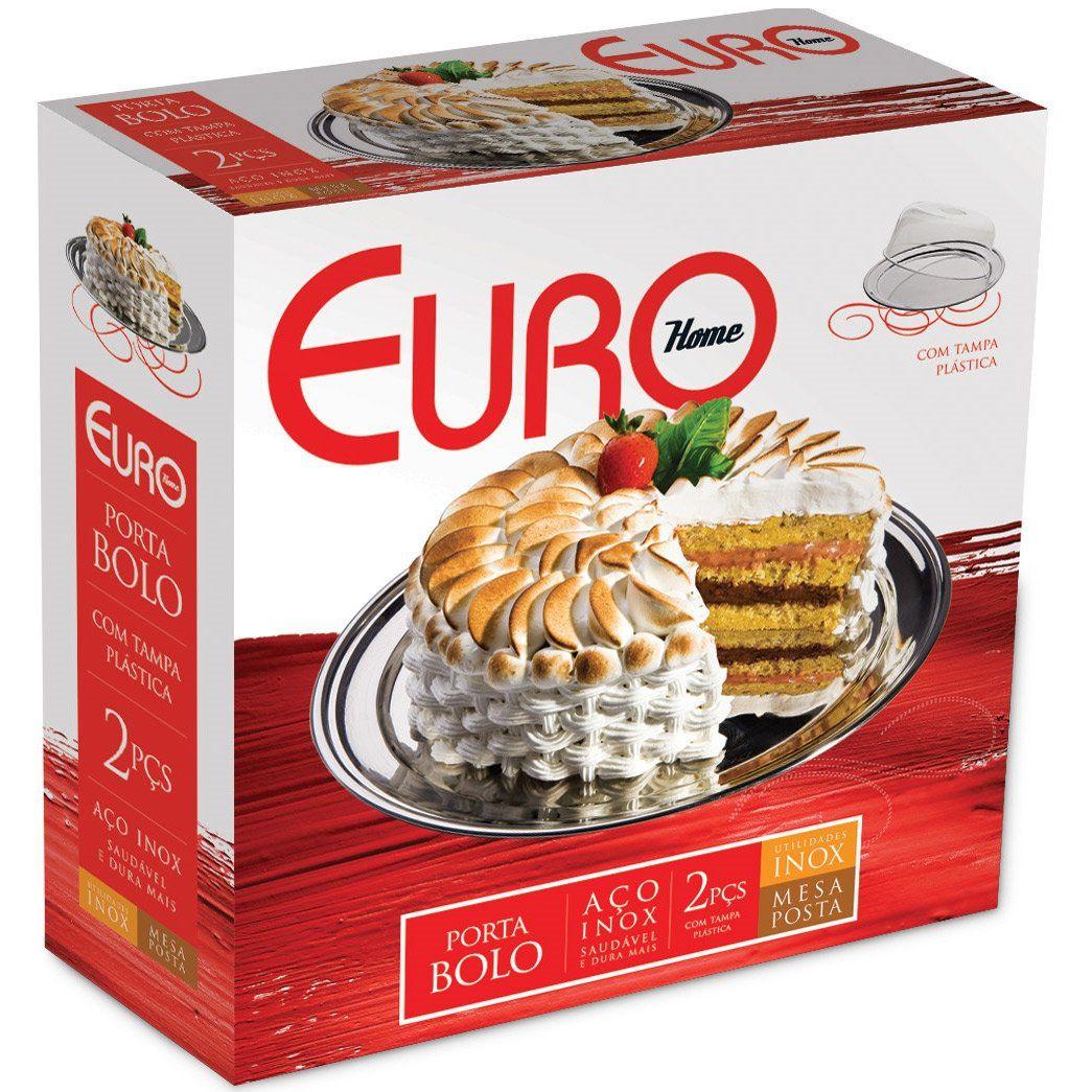 Porta Bolo 2 Peças Euro Inox