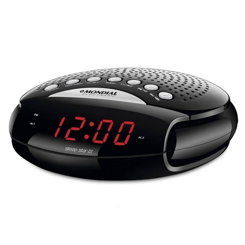 Rádio Relógio Mondial Bivolt Sleep Star