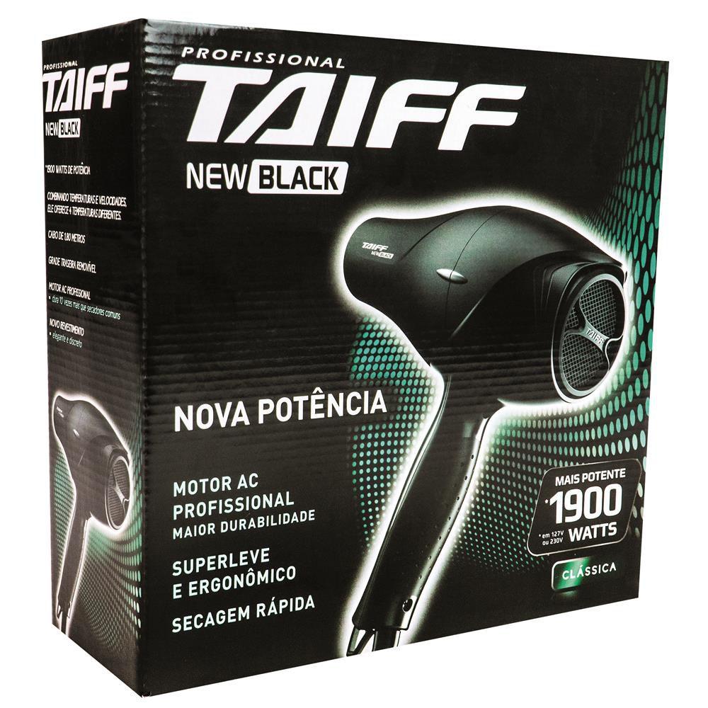 Secador Taiff 110V New Black | Lojas Estrela