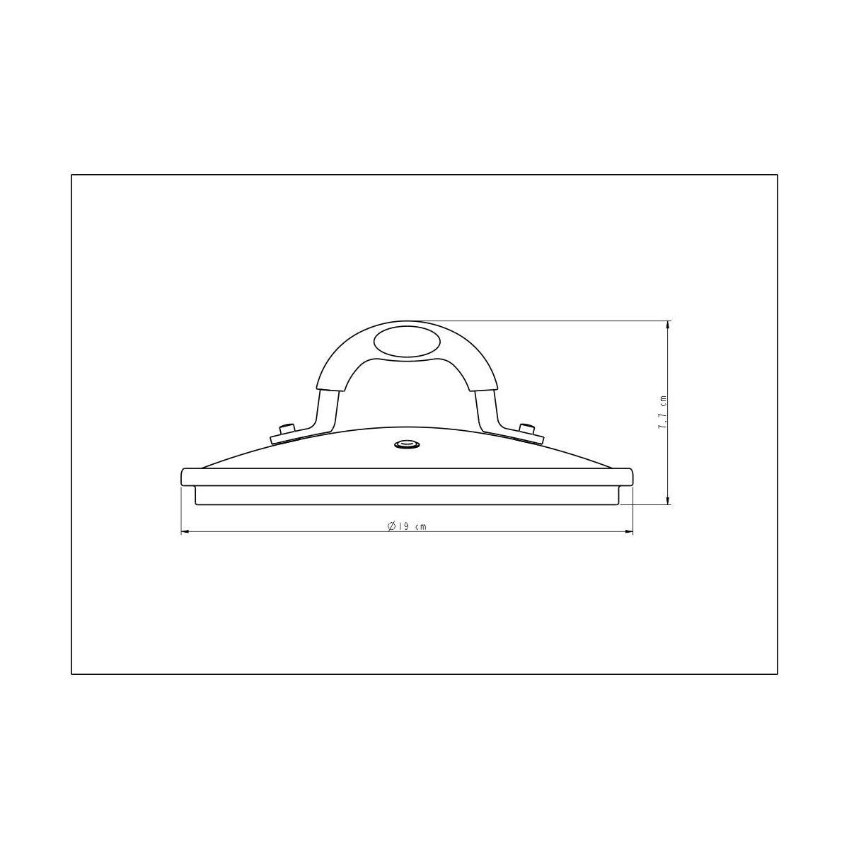 Tampa Tramontina em Vidro e Aço Inox com Alça Silicone 18 cm 20849/018 | Lojas Estrela