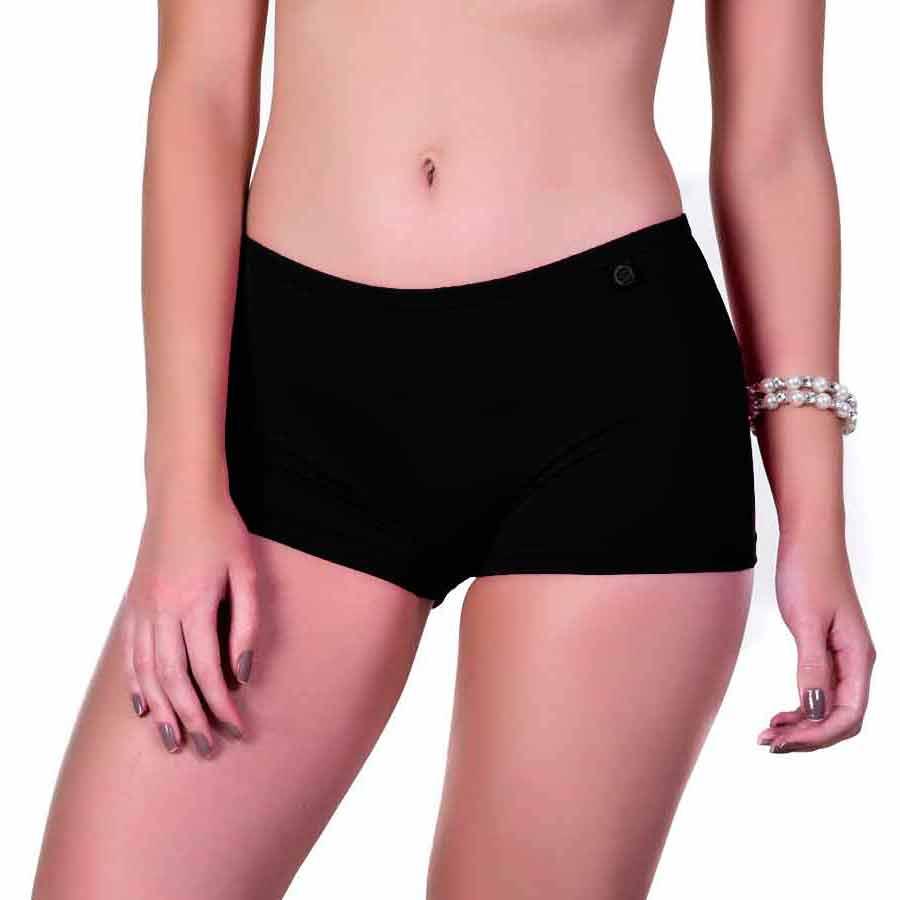 2c985cfc5 Kit 5 Cuecas Boxer Femininas Cores Neutras - Loja Sigh