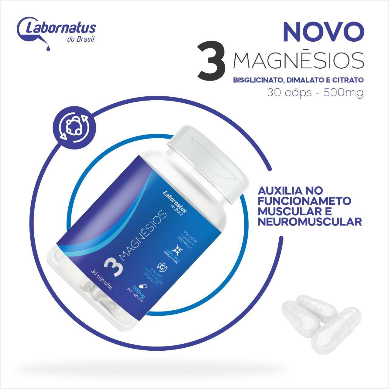 3 Magnésio - Citrato - Dimalato - Bisglicinato