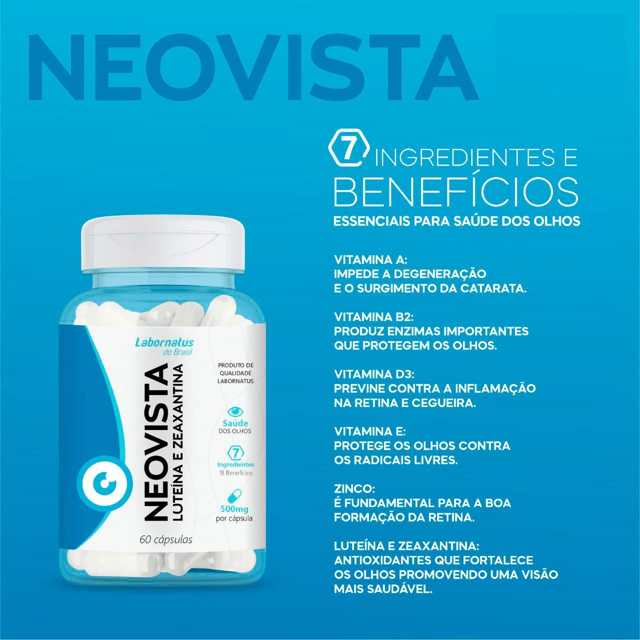 NEOVISTA - Luteína + Zeaxantina 60 cápsulas
