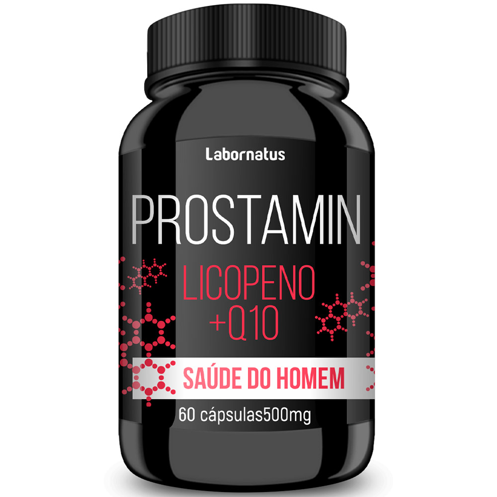 Prostamin 60 cáps - Licopeno + Selênio + Coenzima Q10