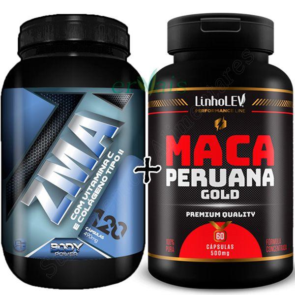 ZMA Body Power 120 Cápsulas + Maca Peruana Gold 100% Pura