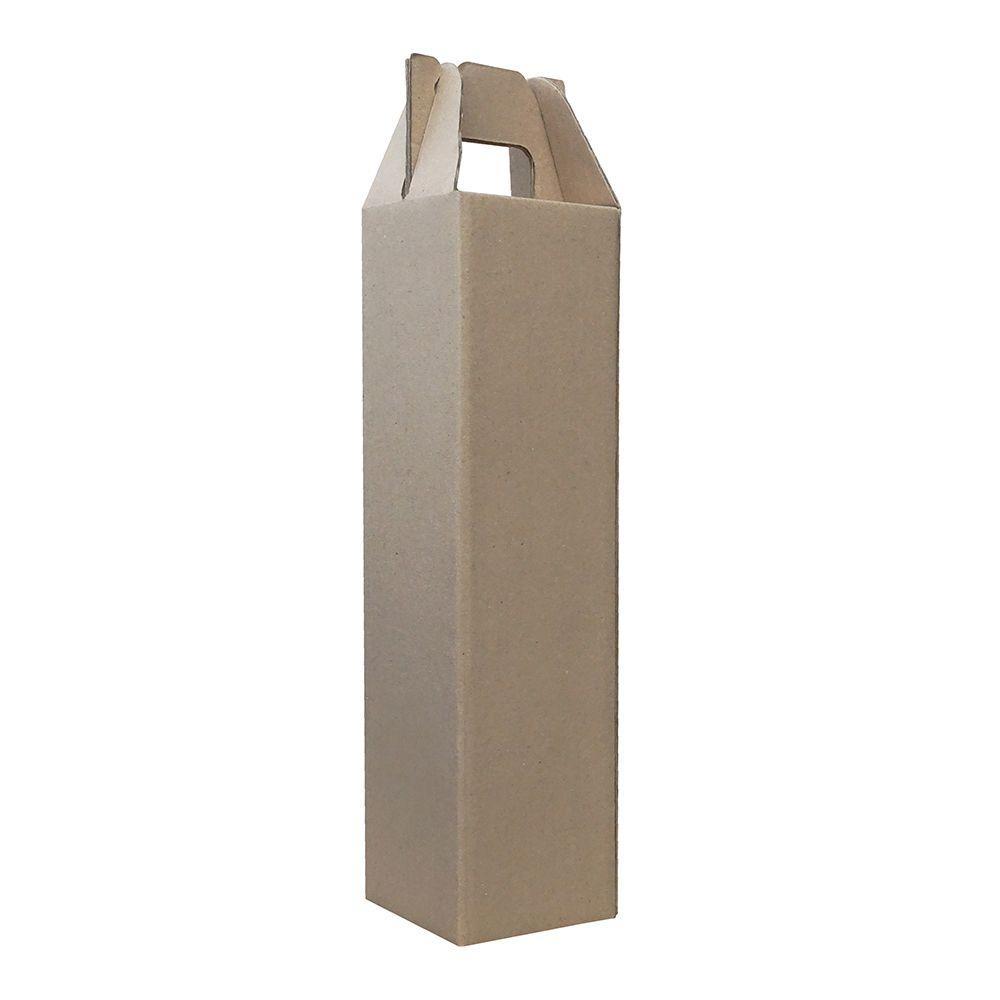Caixa de Vinho p/ 1 Garrafa Pardo - Pacote 5 unid.