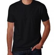 Camiseta Masculina Manga Curta Sem Estampa Lisa Básica Gola Redonda Malha 100% Algodão Fio 30.1 Penteada