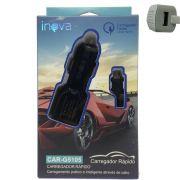 Carregador Celular Veicular Turbo Inova Original Car-g5105 - Preto