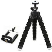 Mini Tripé Flexível Ajustável Regulador Móvel P Celulares e Cameras - Preto
