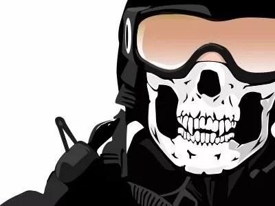 Balaclava Caveira Touca ninja Paintball ciclismo motoqueiro fantasia