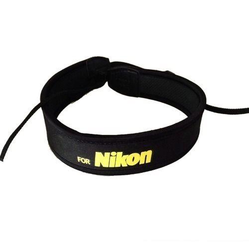 Alça De Pescoço Neck Strap Em Neoprene P/ Nikon Cor Preta