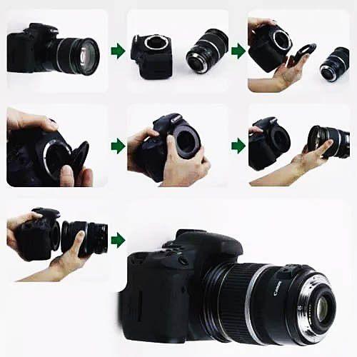 Anel Inversor Lente Macrofotografia Cameras Canon Eos 58mm