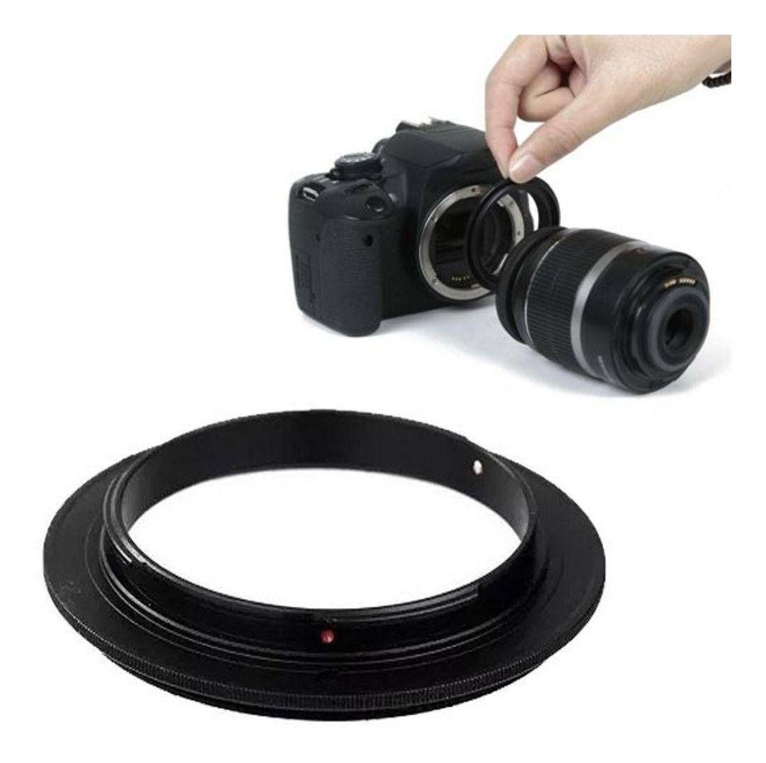 Anel Inversor Lente Macrofotografia Cameras Sony Alpha 62mm