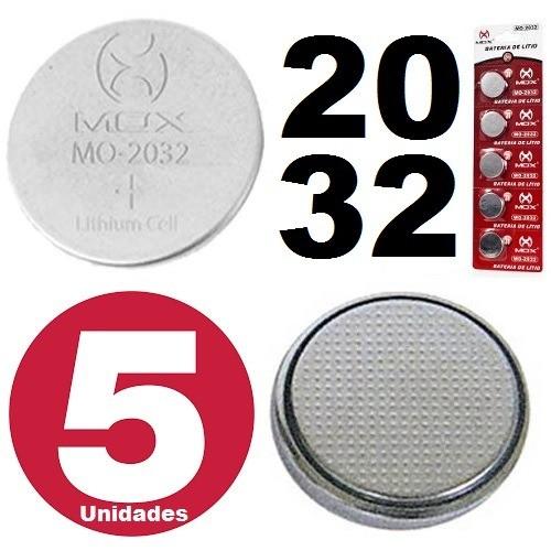 Bateria De Lítio Botão 3v Cartela Com 5 Mox Mo-cr2032