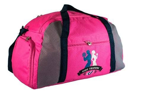 Bolsa Mochila Mala 30L Fitness Academia Musculação Esportiva Porta Tênis Viagens - Pink