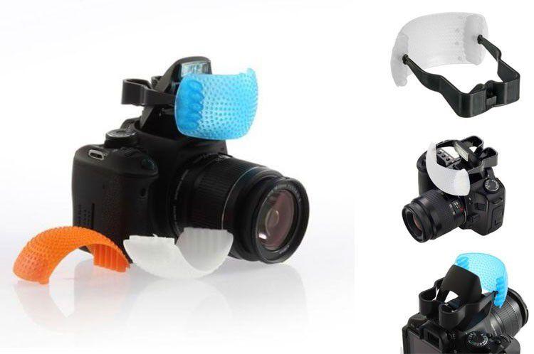 Difusor Universal P/ Câmera com Flash Pop-up Pop Up 3 Cores