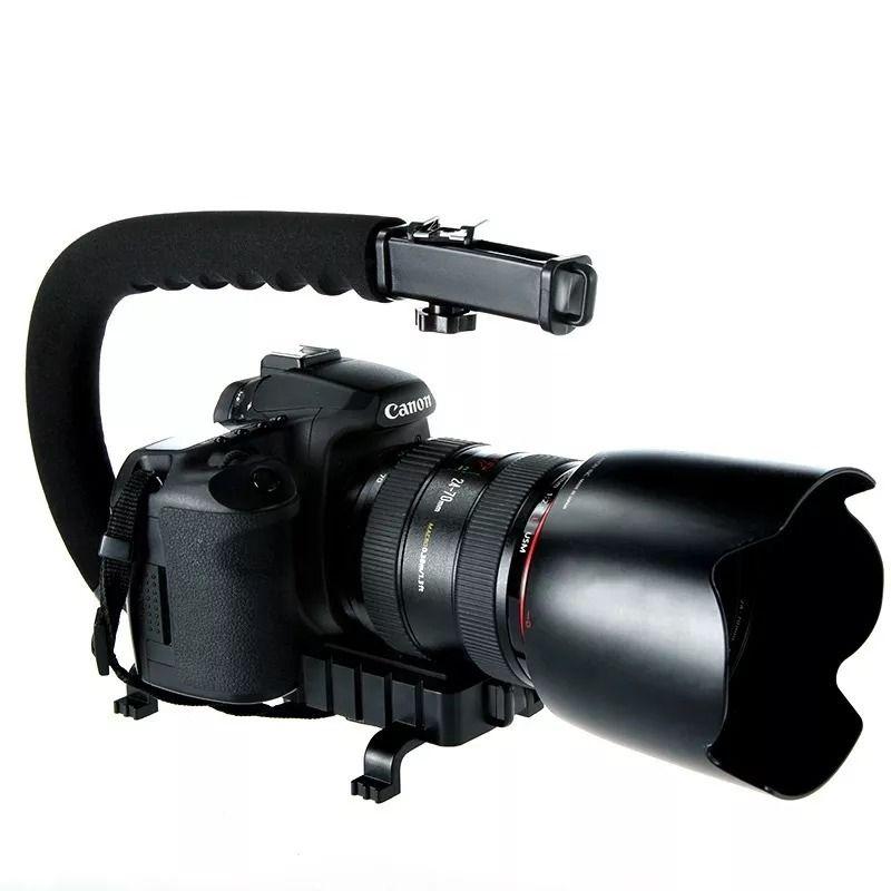 Estabilizador Suporte Grip De Mão Dslr Para Filmagens Câmera