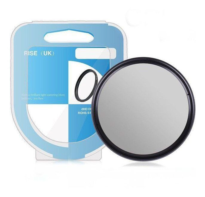 Filtro Cpl Circular Polarizador 55mm P/ Lente Nikon Nikkor Af-p 18-55mm + Case