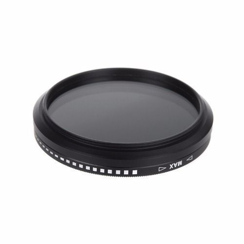 Filtro Nd Densidade Neutra Variável De Nd2 Até Nd400 52mm P/ Lentes Canon 50mm 1.8 II ou Nikon Af-s 18-55mm + Case