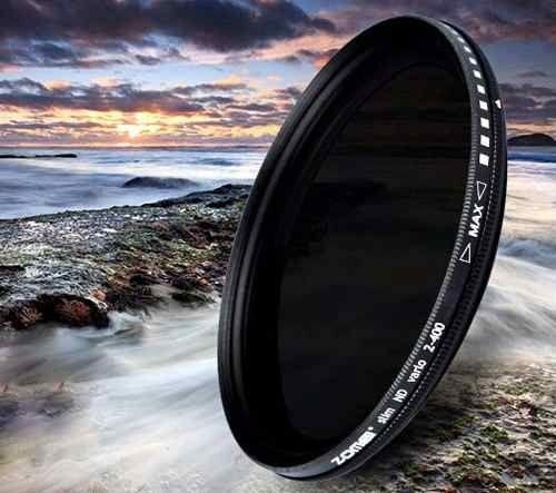 Filtro Nd Densidade Neutra Variável Zomei Nd2 - Nd400 55mm P/ Lente Nikon Nikkor Af-p 18-55mm