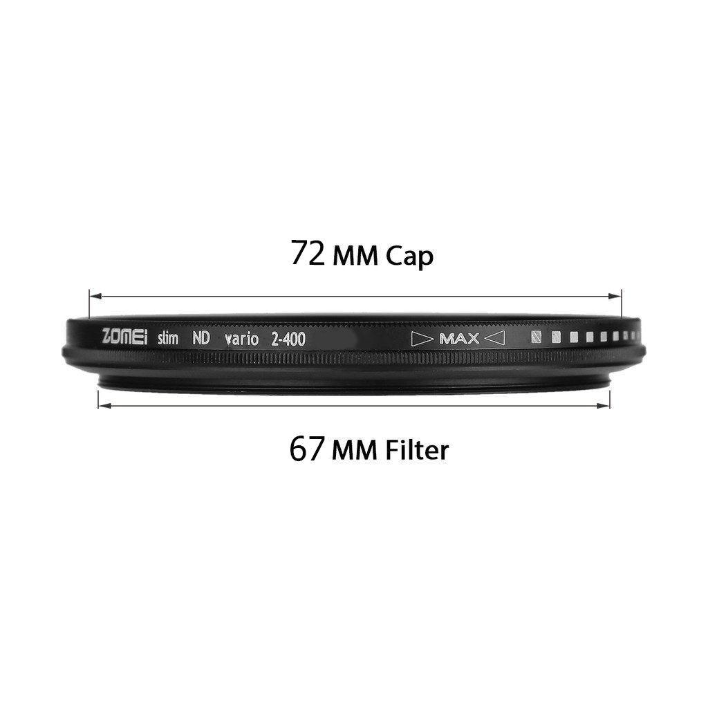 Filtro Nd Densidade Neutra Variável Zomei Nd2 - Nd400 67mm P/ Lente Nikon Af Zoom-nikkor 24-85mm F/2.8-4d