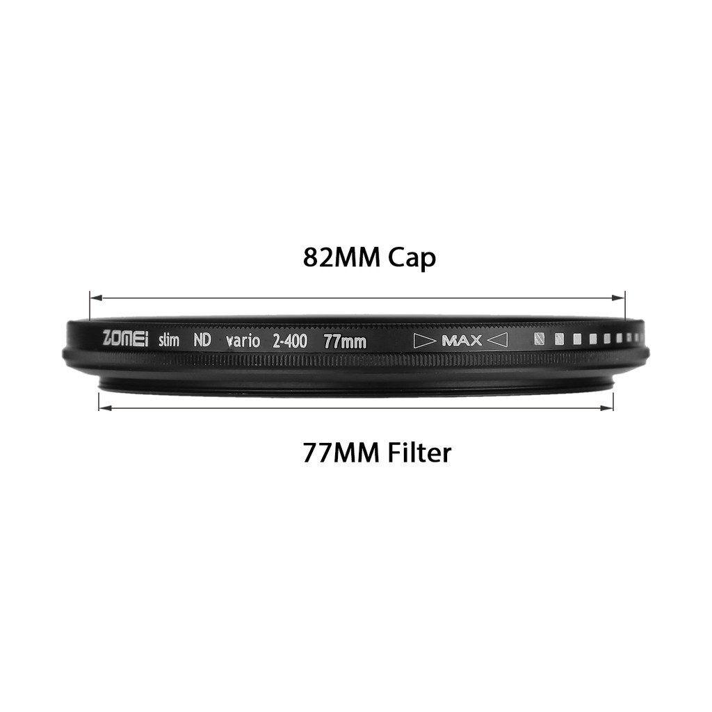 Filtro Nd densidade neutra variável Zomei Nd2 - Nd400 Ø 77mm P/ Lentes Nikon 24-120mm F/3.5-5.6 G Af ou Canon Ef 24-70mm F/2.8 L