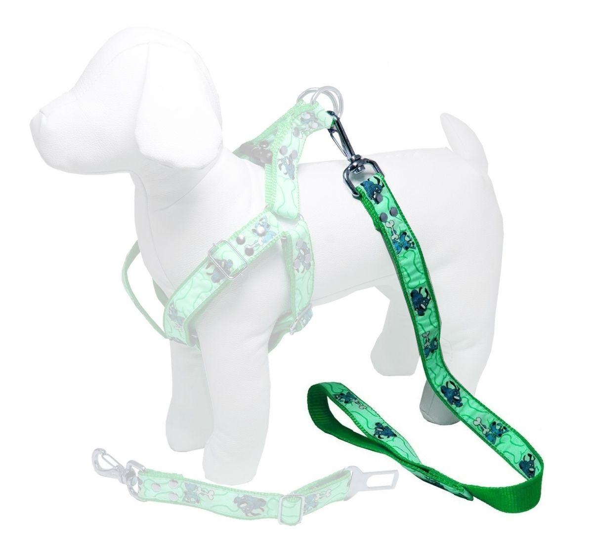 Guia de 1 Metro Resistente Para Cachorros de Menor Porte - Cor Verde