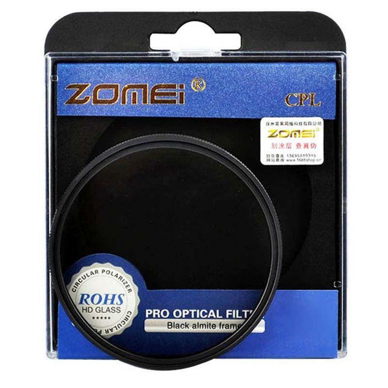 Kit 3 Peças Filtros Zomei Linha Profissional CPL Polarizador Circular  + UV Ultra Violeta + Nd Neutra Variável Nd2 - Nd400 Para Lentes Com Rosca Frontal de 40,5mm