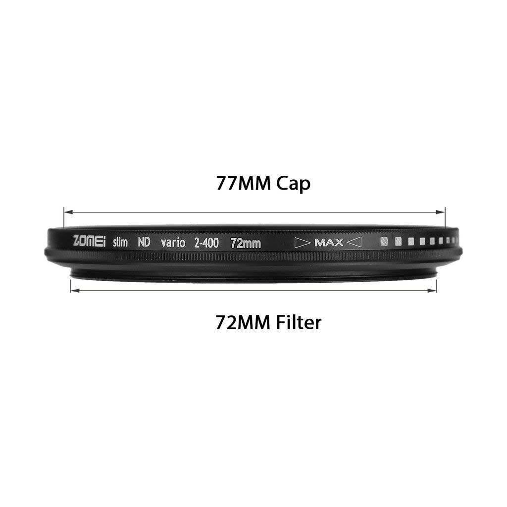 Kit 3 Peças Filtros Zomei Linha Profissional CPL Polarizador Circular  + UV Ultra Violeta + Nd Neutra Variável Nd2 - Nd400 Para Lentes Com Rosca Frontal de 49mm