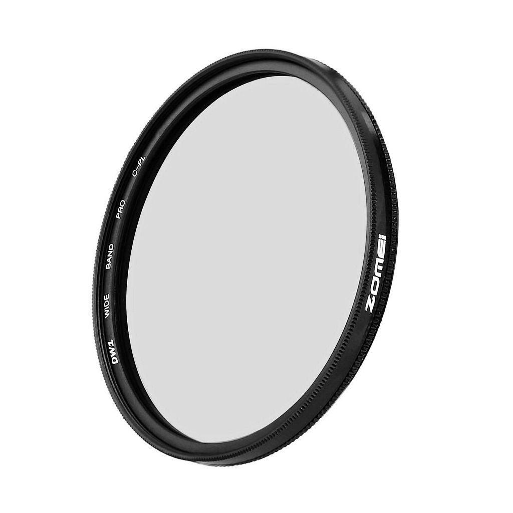 Kit 3 Peças Filtros Zomei Linha Profissional CPL Polarizador Circular  + UV Ultra Violeta + Nd Neutra Variável Nd2 - Nd400 Para Lentes Com Rosca Frontal de 55mm
