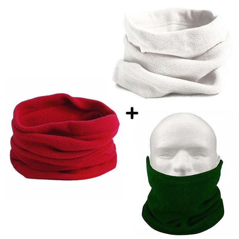 Kit 3x Gola cachecol proteção para o pescoço em dias e em noites de frio Várias cores