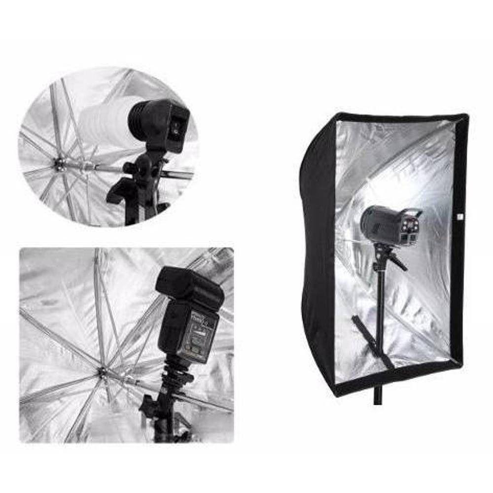 Kit 4x Softbox 60x90 Sombrinha Para Estúdio Fotográfico Com Bolsa