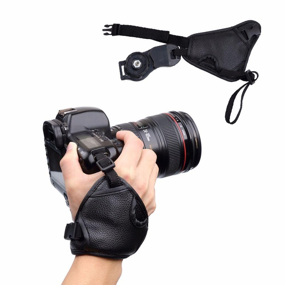 Kit Alça De Mão Triangular Hand Grip + Alça Dupla Câmera Dslr Universal Nikon Sony Canon CN