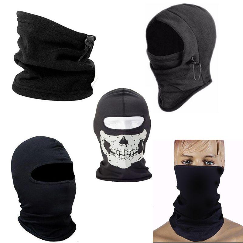 Kit balaclava frio intenso + gola soft + balaclava caveira + bandana lisa + Touca Ninja Balaclava Mascara Segunda Pele Paintball